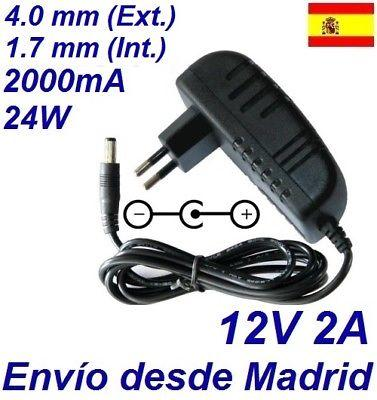 CARGADOR UNIVERSAL DE PUNTA 4.0x1.7mm 12V 24W 2.0 A PARA TODAS LAS MARCAS