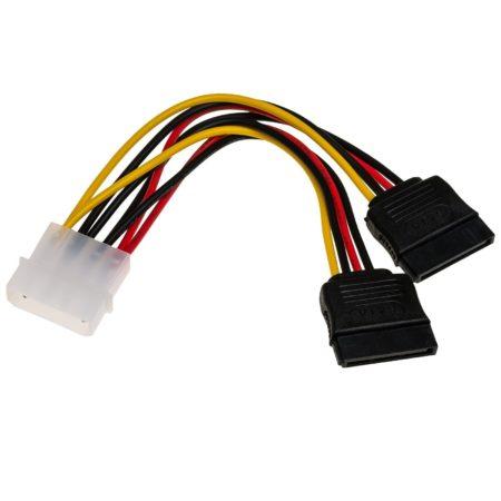 Cable Adaptador 1 Molex / 2x SATA para Fuentes ATX