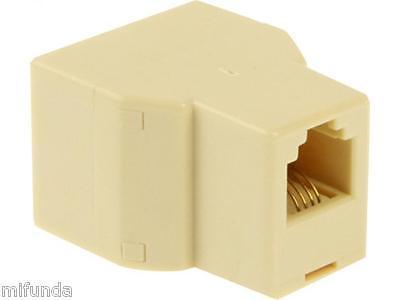 CONECTOR DUPLICADOR SPLITTER PARA TELÉFONO 1 RJ11 A /TO 2 RJ11 HEMBRA/FEMALE 1