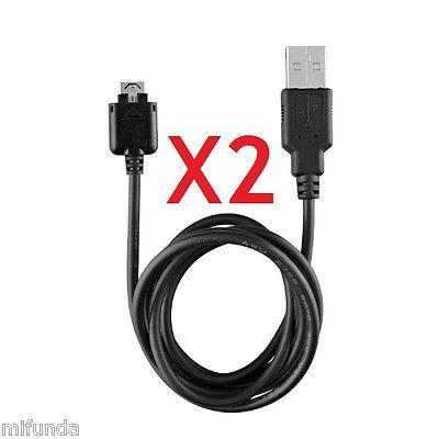 2X CABLE DE DATOS Y CARGA DK-80G 2.0 USB PARA LG KG800 KE970 KP500 KU990 KG275