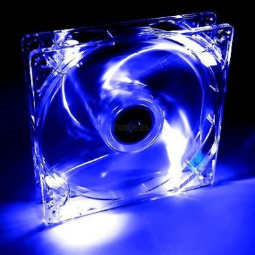VENTILADOR PARA CAJA DE PC UNIVERSAL CON LED AZUL 12x12x2.5cm 12V PC FAN COOLER