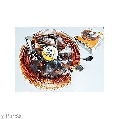 DISPADOR+VENTILADOR PARA PC CPU SOCKET 775 1155 1156 1366 AM2 AM2+ AM3 CPU FAN 3