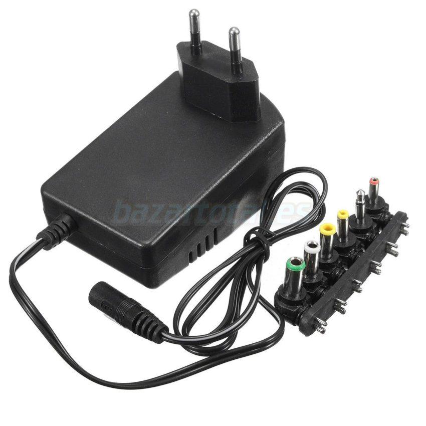 ALIMENTADOR UNIVERSAL DE RED 6 PIN+USB PARA 3/4.5/6/7.5/9/12V 30W POWER SUPPLY 2