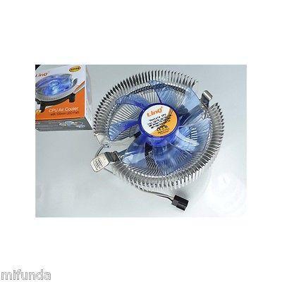 DISPADOR+VENTILADOR LED PARA CPU SOCKET 775 1156 AM2 AM2+ AM3 LED CPU FAN COOLER 2