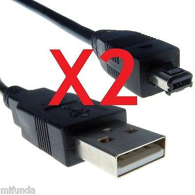 2X CABLE USB MINI B 4 PIN MACHO A USB 2.0 MACHO DE 1M. PARA MP3/MP4/CAMARAS ETC