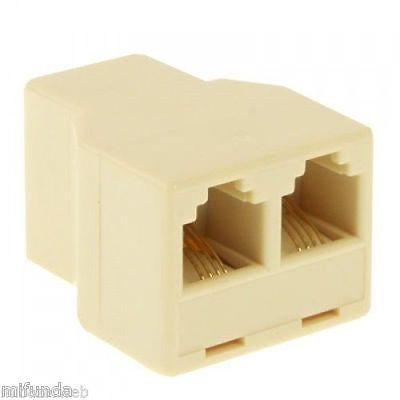 CONECTOR DUPLICADOR SPLITTER PARA TELÉFONO 1 RJ11 A /TO 2 RJ11 HEMBRA/FEMALE