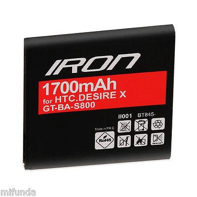BATERIA GT® IRON PARA HTC DESIRE U/DESIRE V/DESIRE X LITIO-ION BATTERY 1700mAh
