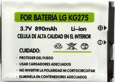 BATERIA COMPATIBLE PARA LG KG275 890 mAH, 3.7V LITIO ION BATTERY
