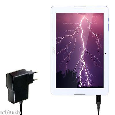 CARGADOR RAPIDO PARA ACER ICONIA ONE 10 MICRO USB CABLE 10W 2,0 A QUICK CHARGER