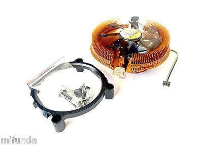 DISPADOR+VENTILADOR PARA PC CPU SOCKET 775 1155 1156 1366 AM2 AM2+ AM3 CPU FAN 2