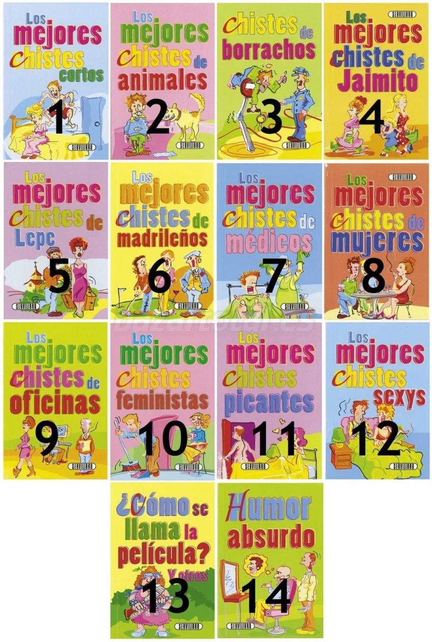 LIBRO BIBLIOTECA CHISTES PARA ADULTOS MODELOS SURTIDOS, SERVILIBRO, 16,5X11CM