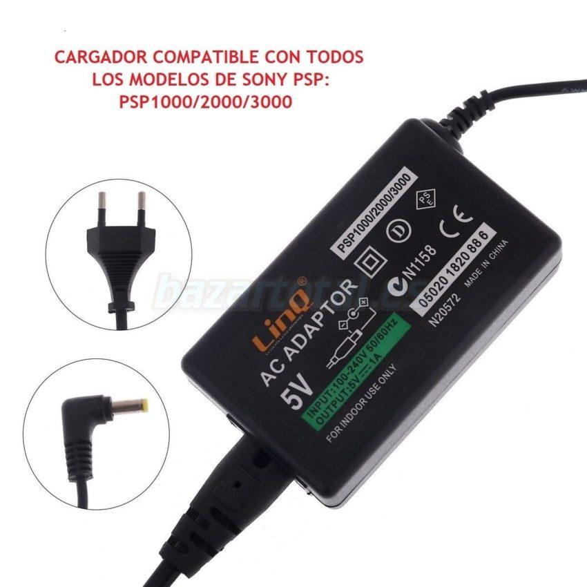 CARGADOR ALIMENTADOR PARA TODOS LOS MODELOS DE PSP 1000/2000/3000 DC 5V/1000mAh