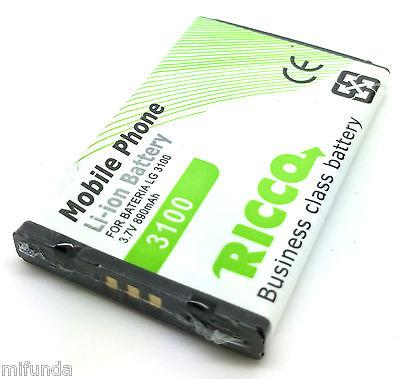 PARA LG 3100 BATERIA COMPATIBLE DE LITIO 890 mAh, 3.7V Li-ion BATTERY
