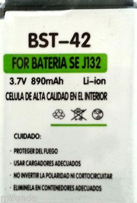 BATERIA PARA SONY ERICSSON J132 BST-42 LITIO ION BATTERY