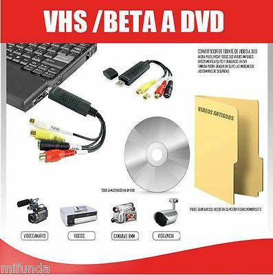 EASYCAP CONVERSOR VHS/HI8 CAPTURADORA DE VIDEO Y AUDIO CON SOFTWARE DE EDICION 1
