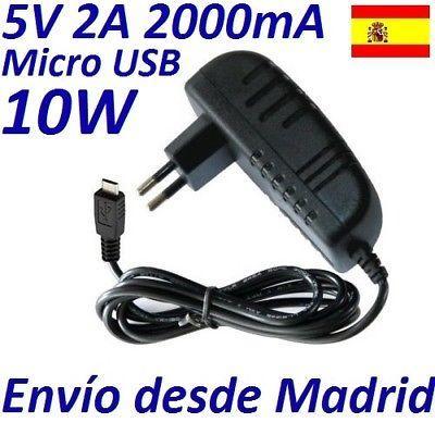 CARGADOR RAPIDO UNIVERSAL DE PUNTA MICRO USB 5V 10W 2.0 A PARA TODAS LAS MARCAS